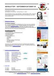 NEWSLETTER – SEPTEMBER/OKTOBER ′09 - Golfclub Fürth