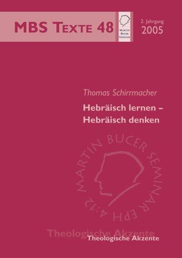 Hebräisch lernen - Hebräisch denken - Thomas Schirrmacher
