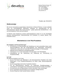 Achim Schneider Vermittlungen - DEVELCO PHARMA GMBH