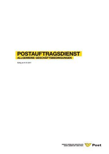 Postauftragsdienst - Österreichische Post AG