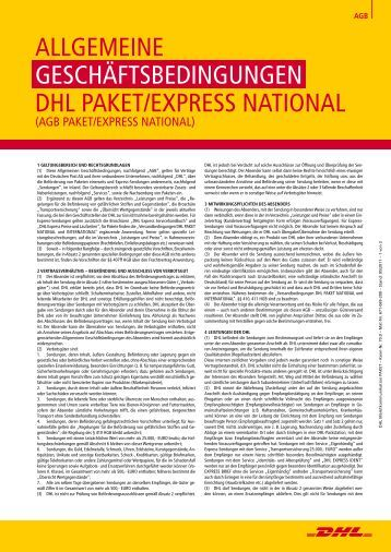AGB Paket/ Express National - DHL