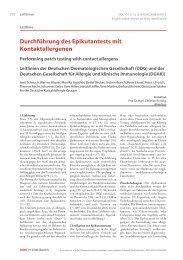 Durchführung des Epikutantests mit Kontaktallergenen - Deutsche ...