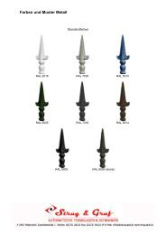Farben und Muster Metall - Strug & Graf
