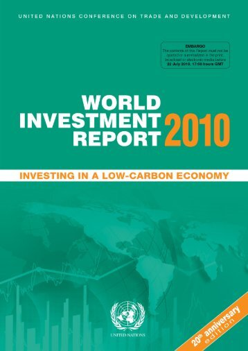 UN World Investment Report 2010 - Office of Trade Negotiations