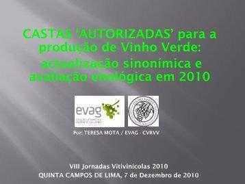 """CASTAS """"AUTORIZADAS"""" para a produção de Vinho Verde ..."""