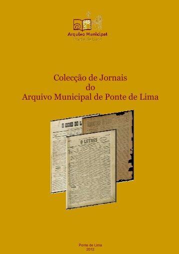 Nota introdutória - Arquivo Municipal de Ponte de Lima - Município ...