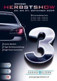 3starke Marken 3 Tage Herbstausstellung ... - Garage Bolzern AG