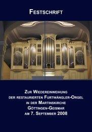 e s t s c h r i F t - Bente Orgelbau