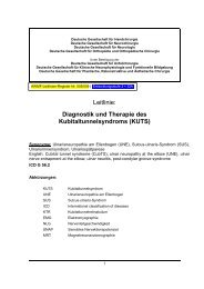 Leitlinie: Diagnostik und Therapie des ... - AWMF