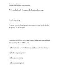 3. Die institutionelle Einhegung des Demokratieprinzips ...