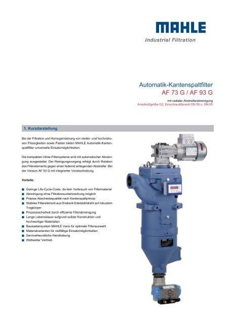 Automatik-Kantenspaltfilter AF 73 G / AF 93 G - mahle.com