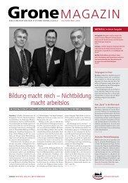 Bildung macht reich - Stiftung Grone-Schule