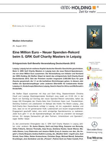 GRK Golf Charity Masters - Golfclub Leipzig Schlosspark Machern eV