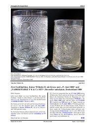 Michl, SG, Zwei Senftöpfchen, Kaiser Wilhelm II. mit - Pressglas ...