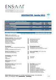 Planches Spécifiques Planches acupuncture CODES - ENSAAF