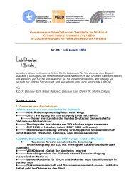 Ihre KR Dr. Christine-Ruth Müller Diakon C. Christian Klein ... - VEDD