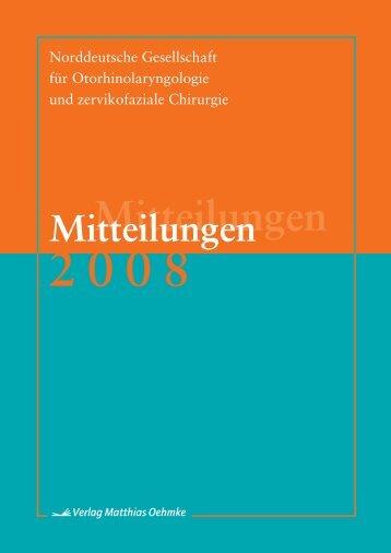Mitteilungen 2008 - Norddeutsche Gesellschaft für ...