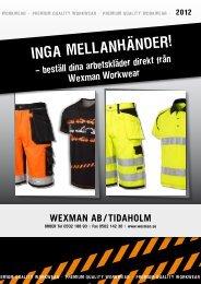UNDErSTÄLL – FUNKTION / LAYEr 1 - Wexman AB