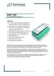 K920 / ESS - FTL Tritschler Elektronik+Feingerätebau