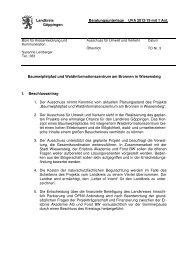 Beratungsunterlage Ausschuss für Umwelt und Verkehr (UVA)