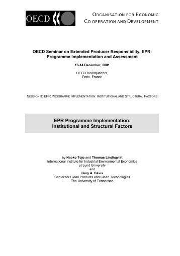EPR Programme Implementation - Clean Production Action