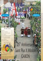 Catholic Tradition in Africa, #10 - Society of St. Pius X