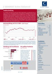 C-QUADRAT Active Balanced Fondsbeschreibung