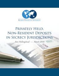 Privately Held, Non-Resident Deposits in Secrecy Jurisdictions