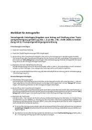 Merkblatt für Antragsteller - Rhein-Erft-Kreis