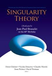 Singularity Theory - CMI