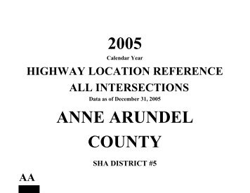 Anne Arundel County - Maryland State Highway Administration