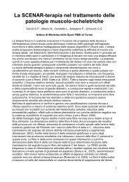 La SCENAR-terapia nel trattamento delle patologie muscolo ... - NRJ3
