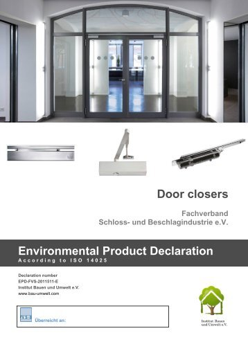 Download EPD (PDF file) - DORMA Door Closers Sliding Doors .  sc 1 st  Yumpu & New Standard for Auto Doors - DORMA Door Closers Sliding Doors ...