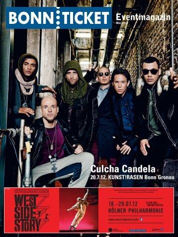 Culcha Candela 20.7.12, KUNST! - Bonnticket