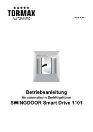 Betriebsanleitung SWINGDOOR Smart Drive 1101 - MAMA - Landert ...
