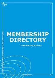 MEMBERSHIP DIRECTORY Directory by Function Directory by ...