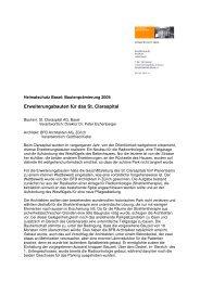Basler Heimatschutzpreis 2009 - BFB ARCHITEKTEN AG