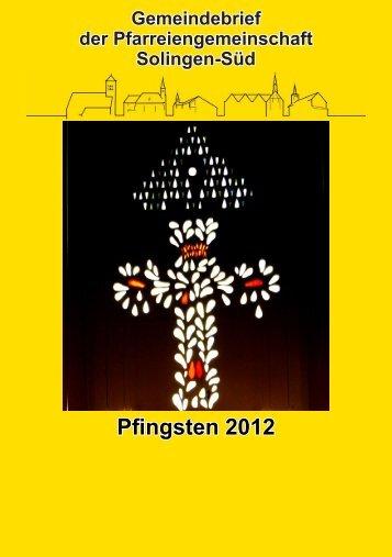 Pfingsten 2012 - St. Suitbertus Solingen Weeg
