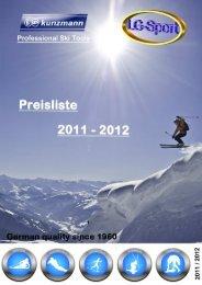 Preisliste 2011-2012 LG-Sport - Kunzmann Ski- & Snowboard Tools