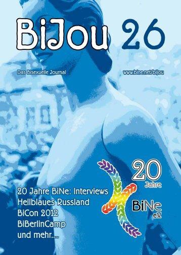 BiJou 26 auf Deutsch - BiNe Bisexuelles Netzwerk eV