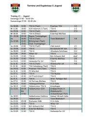 19.10.10 Termine und Ergebnisse C - TSV Kronshagen