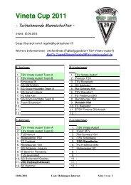 Liste Meldungen Internet_2011_aktuell_18 - TSV Vineta Audorf e. V.