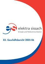 Verkauf per 31.12.2006 - Elektra Sissach