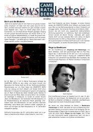 Newsletter 1/März 2012 - Camerata Bern