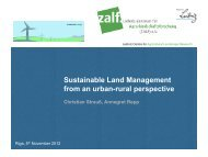 Sustainable Land Management from an urban-rural ... - EcoHousing