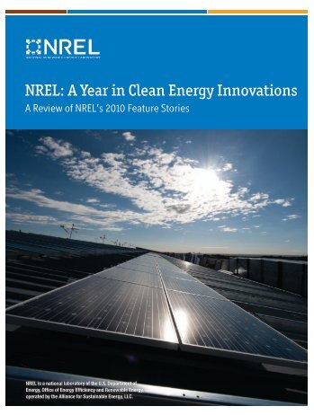NREL: A Year in Clean Energy Innovations: A Review of NREL's ...