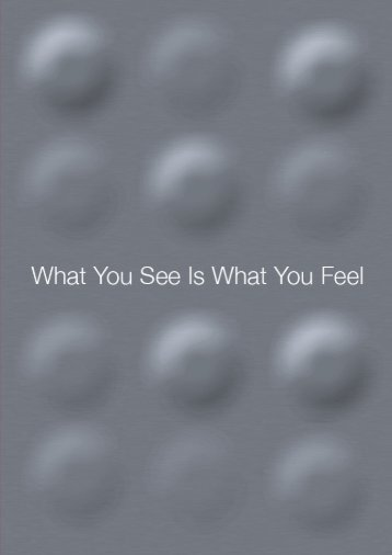 WHAT YOU SEE IS WHAT YOU FEEL - Technische Universiteit ...