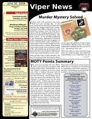 Murder Mystery Solved MOTY Points Summary - Oregon Viper Club ...