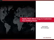 Apply Shale Mineralogy to Customize Your Drilling Fluids - Halliburton