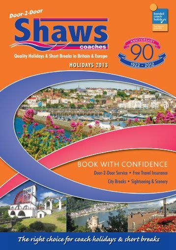 our latest brochure in PDF - Shaws Coaches